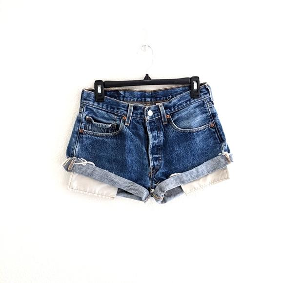 Vintage Levi's 501 Distressed Shorts Size 31W